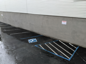 Image shows ADA Accessible Parking Spot